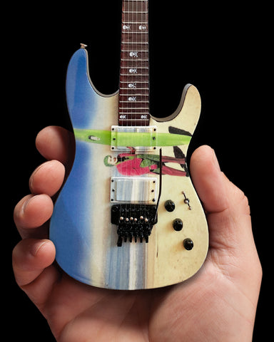 "Kirk Hammett ""Joker Surfs Up"" Miniature Guitar Replica Collectible"