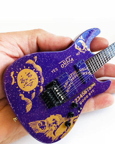 Kirk Hammett Ouija Purple Sparkle ESP Miniature Guitar Replica Collectible