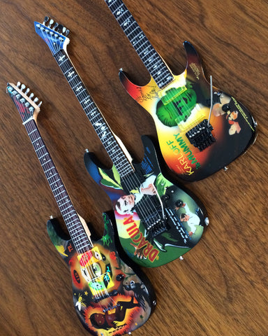 Kirk Hammett Signature SET OF 3 Miniature Guitar Replica Collectibles
