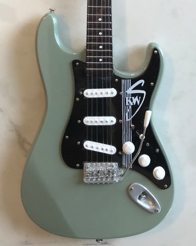 Officially Licensed Kenny Wayne Shepherd Mini Fender™ Strat™ KWS Green Signature Guitar Model