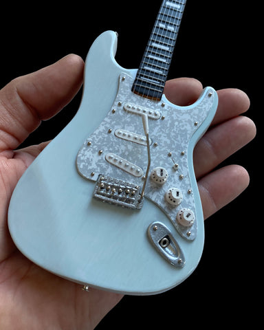 Licensed Kenny Wayne Shepherd Mini Fender™ Strat™ Transparent Faded Sonic Blue Guitar Model