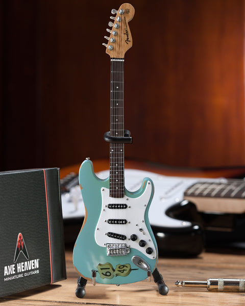 Officially Licensed Kenny Wayne Shepherd Mini Fender™ Strat™ Crossroads Blue Guitar Model