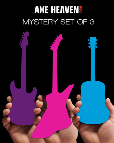 MYSTERY SET of 3 Mini Guitars - RARE Limited Models! - NEW IN THE BOX!