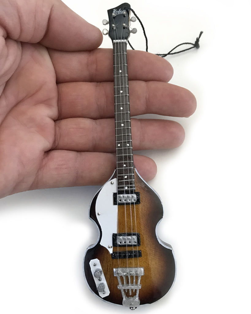 6″ Paul McCartney FAB FOUR Sunburst Hofner Bass Mini Guitar Ornament
