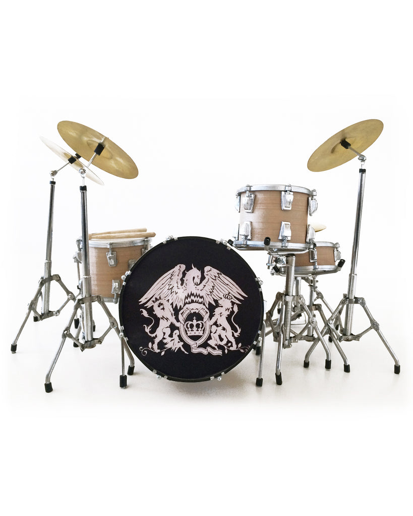 Roger Taylor Queen Crest Tribute Miniature Drum Set Replica Collectible