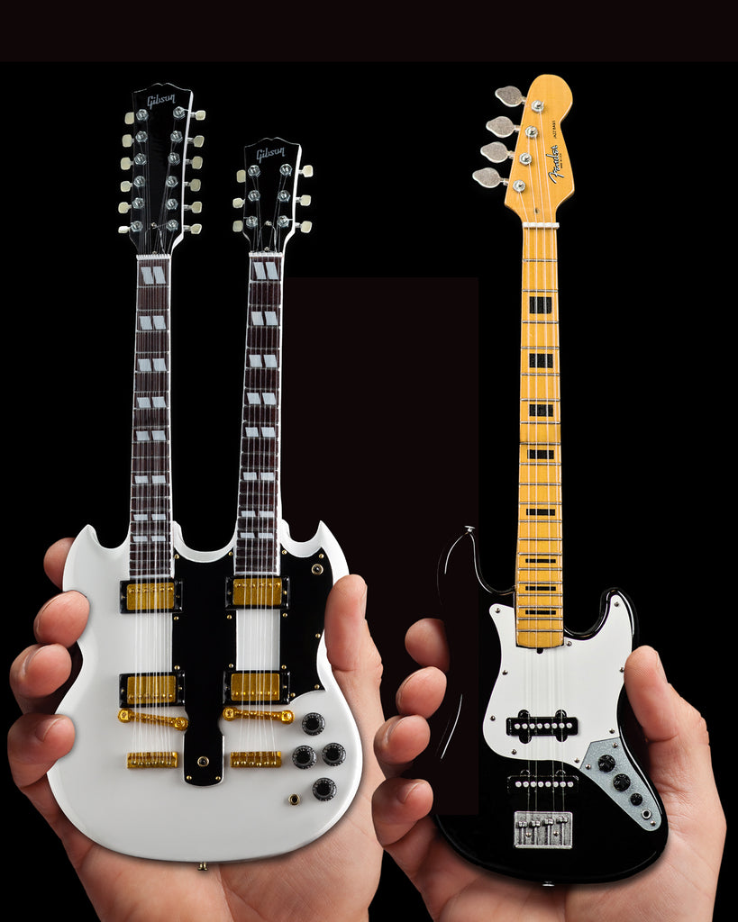 Set of 2 - Alex's EDS-1275 Doubleneck & Geddy's Jazz Bass™ Miniature Guitars