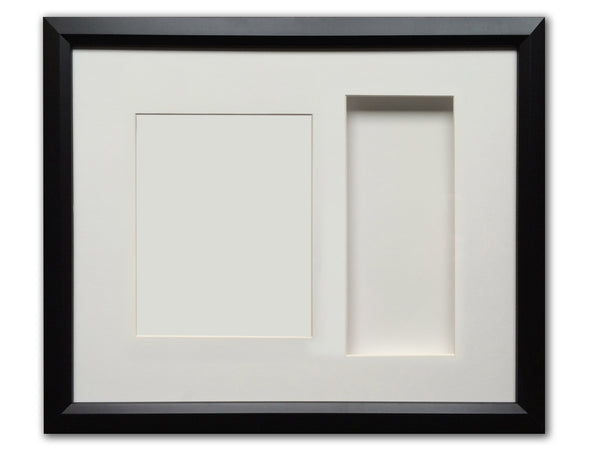 "BLANK - 22"" x 19""  Framed Memorabilia Shadowbox - Displays Multiple 10"" Mini Guitars & Collectibles"