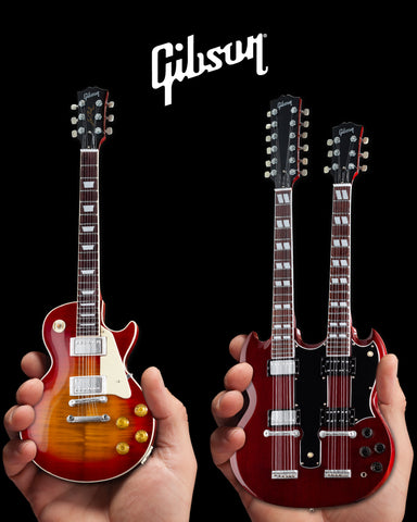 Jimmy's Famous Set of 2 Classic Gibson Mini Guitar Replicas - GG-002