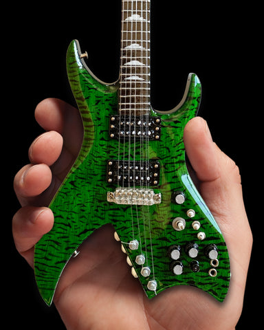 Slash Signature B.C. Rich Green Bitch Miniature Guitar Replica Collectible