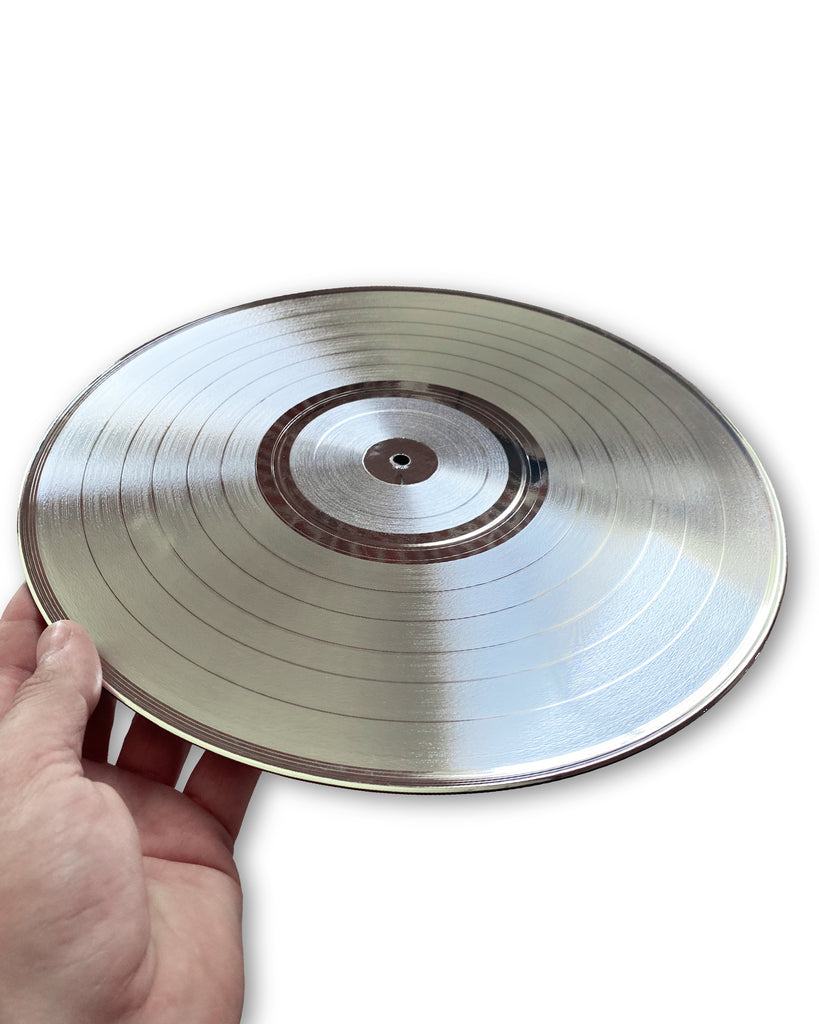 "Blank 33 1/3 RPM LP 12"" Platinum Record - Rockstar Award - Metalized Platinum Record"