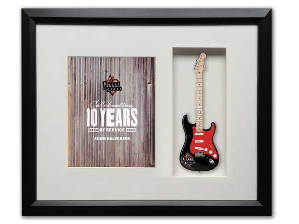 "22"" x 19"" Rockstar Award Framed Shadowbox with 10"" Mini Guitar"