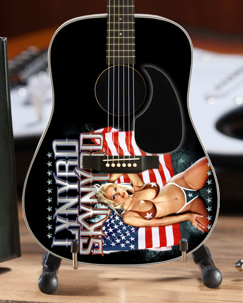 Officially Licensed Lynyrd Skynyrd USA Tribute Acoustic Mini Guitar