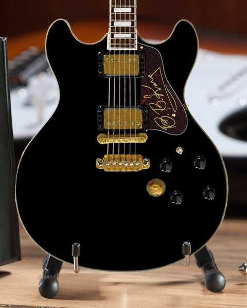 B.B. King's Signature Black Hollowbody Mini Guitar Replica Collectible