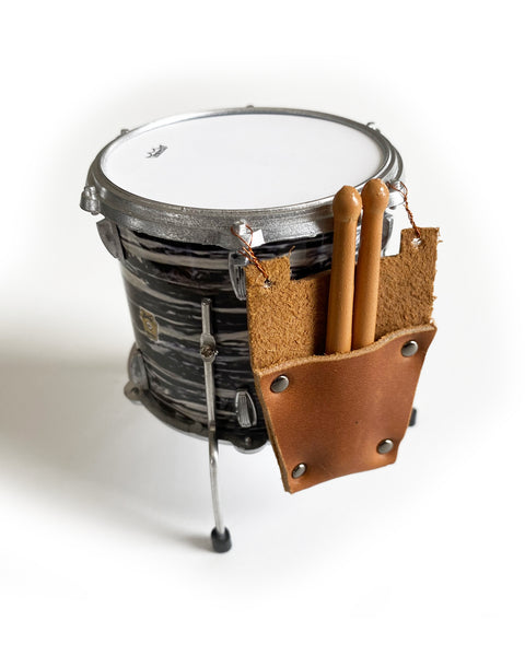 Mini Leather Drumstick Bag & Drumsticks for 1:4 Scale Drums