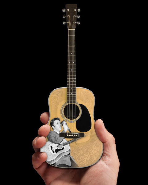 Officially Licensed Elvis Presley 55' Tribute Acoustic Mini Guitar Model