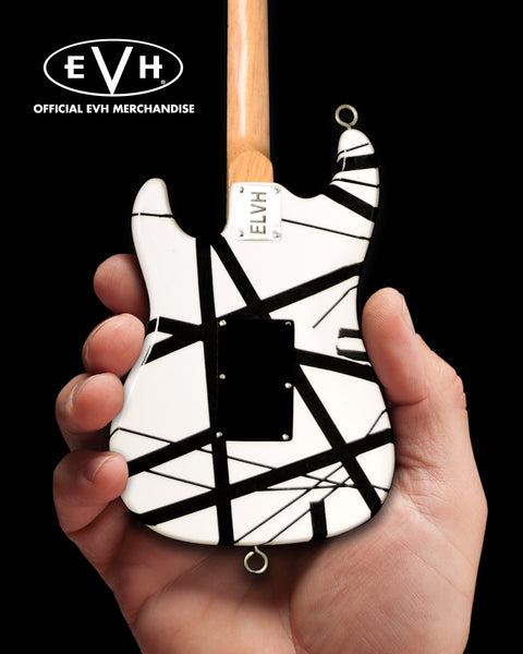 EVH Black & White VH1 Eddie Van Halen Mini Guitar Replica Collectible - Officially Licensed