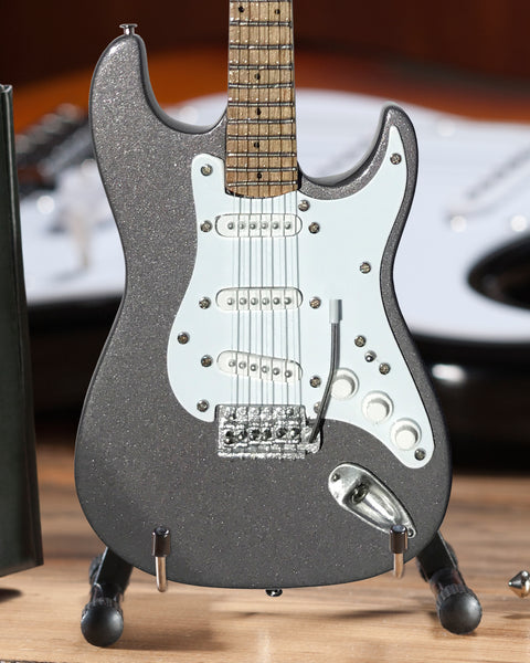 Officially Licensed Mini Fender™ Strat™ Eric's Signature Pewter Guitar Replica