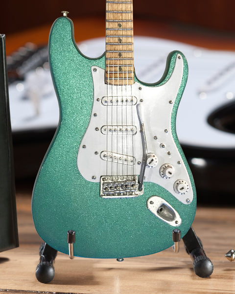 Signature Aston Martin Metallic Green Miniature Fender™ Strat™ Guitar Replica
