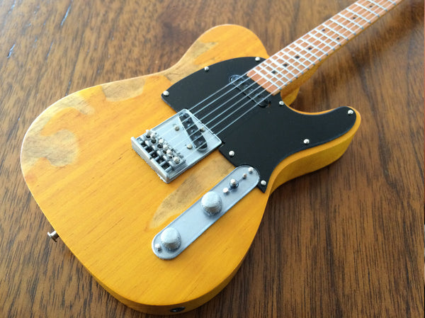 Vintage Blonde Licensed Fender™ Tele™ Miniature Guitar