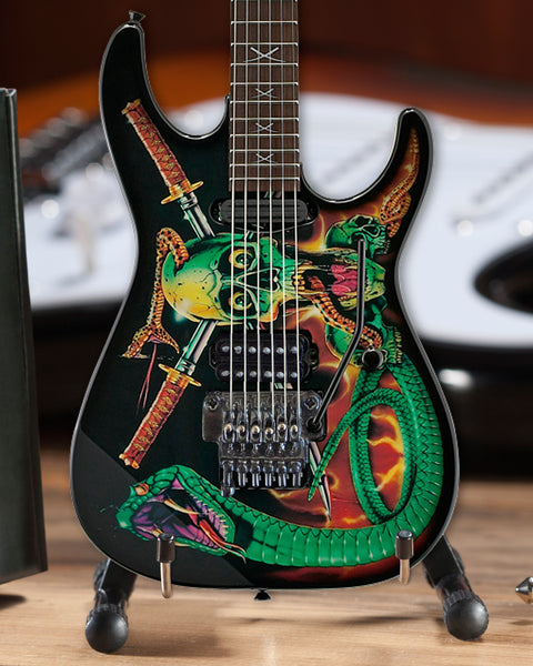 Officially Licensed George Lynch Skulls & Snakes Mini Guitar Replica Collectible