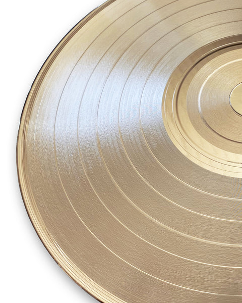 "Blank 33 1/3 RPM LP 12"" Gold Record - Rockstar Award - Metalized Gold Record"