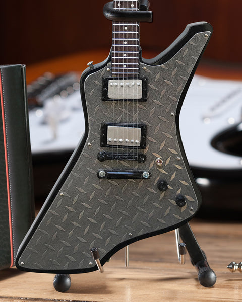 "James Hetfield ""Diamond Plate"" Miniature Guitar Replica Collectible"
