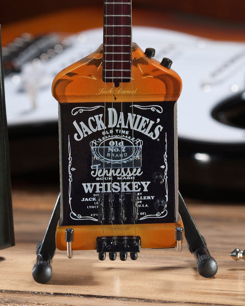 Officially Licensed Michael Anthony Jack Daniel's Bass Mini Guitar Replica Collectible