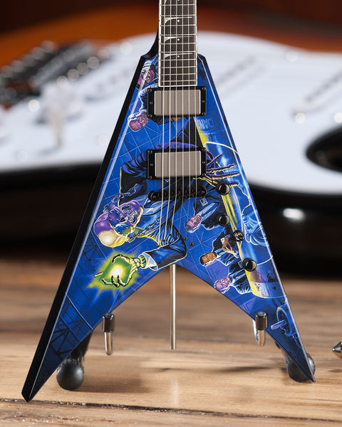 Licensed MEGADETH - Dave Mustaine Signature V Rust In Peace Mini Guitar