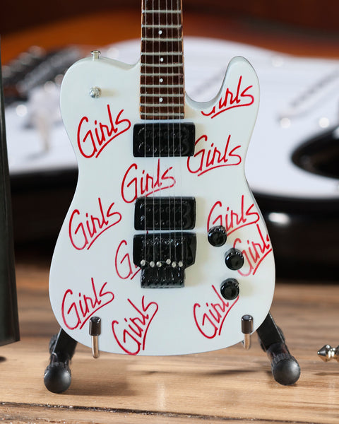 Signature White Mick Mars Girls, Girls, Girls Mini Guitar