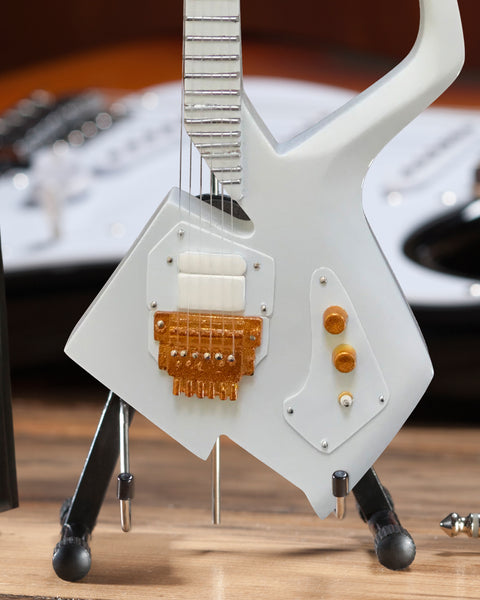 The Artist Formerly Known as - White Auerswald Model C Miniature Guitar Model