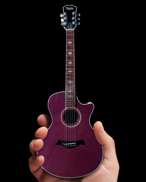 The Artist Formerly Known as - Acoustic Guitar Purple Stain Miniature Replica Collectible
