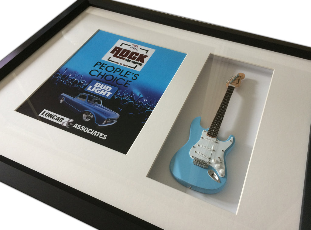 Custom Rockstar Award 22″ x 19″ Mini Guitar Framed Shadow Box