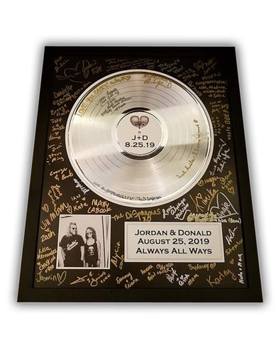 "Gold & Platinum Record Tribute for Wedding & Memorial Record 33 1/3 RPM LP - 12"" Record"