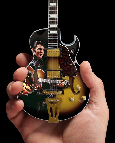Officially Licensed Elvis Presley '68 Special Hollow Body Mini Guitar