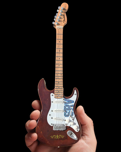 SRV Set of 2 Signature Fender Mini Guitar Replica Collectibles - Officially Licensed