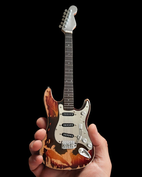 Frank Zappa Vintage Jimi Hendrix Mini Fender™ Stratocaster™ Guitar Model - Officially Licensed