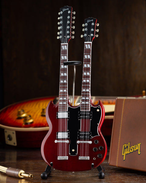 Gibson SG EDS-1275 Doubleneck Cherry 1:4 Scale Mini Guitar Model