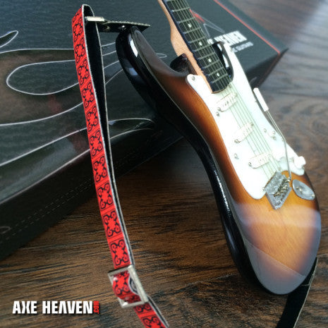 FENDER™ Hip Trip Vintage Red Mini Model Guitar Strap