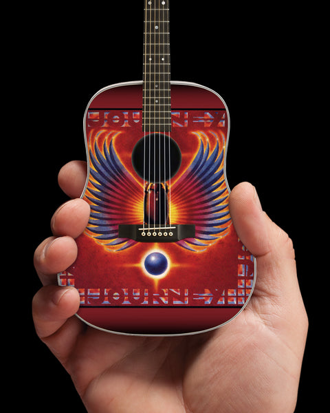 Officially Licensed Journey Greatest Hits Album Tribute Acoustic Mini Guitar Replica Model