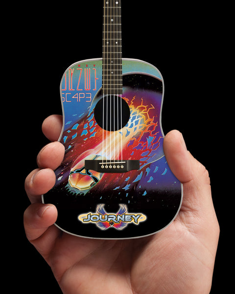 Officially Licensed Journey Escape Album Tribute Acoustic Mini Guitar Replica Model