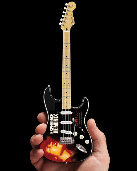 Jimi Hendrix 2019 Experience Hendrix Tour Mini Fender™ Strat™ Guitar Model Officially Licensed