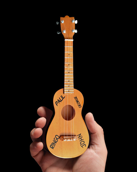 Fab Four Classic Natural Finish Soprano Ukulele Miniature Model