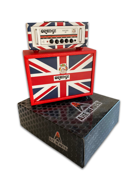 Miniature Orange ROCKER 30 UK Flag Stack Amp Model