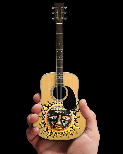 Officially Licensed Sublime Large Sun Logo Natural Finish Acoustic Mini Guitar