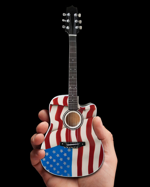 Toby Keith Signature USA Flag Acoustic Mini Acoustic Guitar Model
