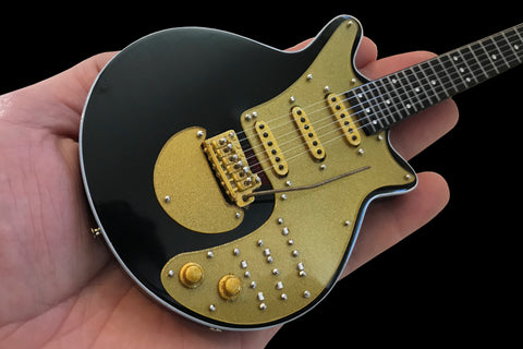 "Brian May Signature ""Gold Special"" Miniature Guitar Replica Collectible"