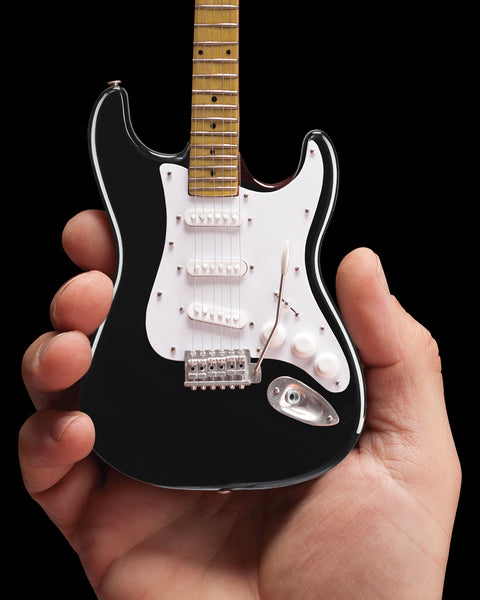 Eric's Black Fender™ Strat™ Classic Miniature Guitar Replica - Officially Licensed