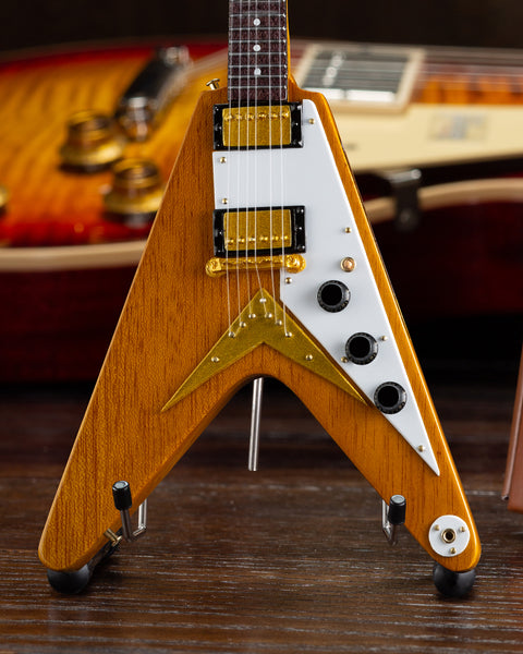 Gibson 1958 Korina Flying V 1:4 Scale Mini Guitar Model