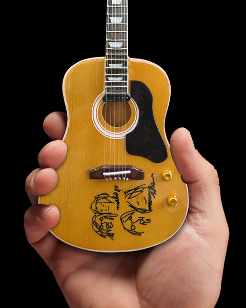 "John Lennon ""Give Peace a Chance"" Mini Acoustic Guitar Replica - Fab Four"