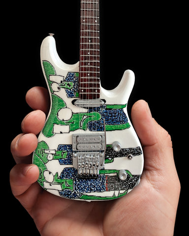 Joe Satriani Original Alien Art Miniature Guitar Replica Collectible